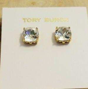 Tory Burch Crystal Stone Earings